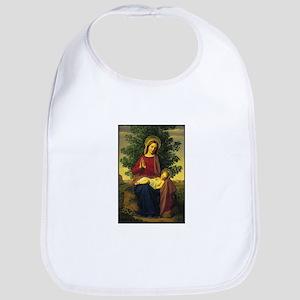 Mother Mary Praying Bib