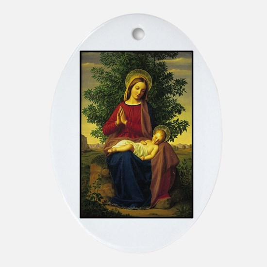 Mother Mary Praying Oval Ornament
