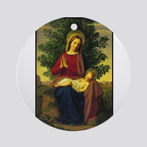 Mother Mary Praying Ornament (Round)