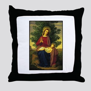 Mother Mary Praying Throw Pillow