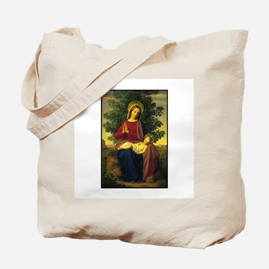 Mother Mary Praying Tote Bag