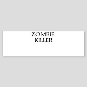 zombie killer Sticker (Bumper)