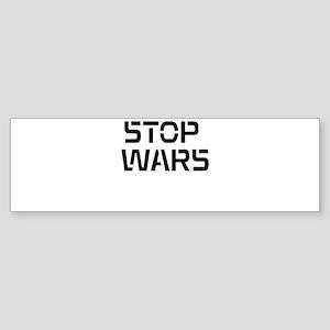 stop wars Sticker (Bumper)