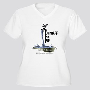 Turn Off the Tap Women's Plus Size V-Neck T-Shirt