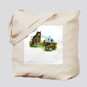 Vintage - Playful Kittens and Cats Tote Bag