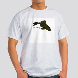"""Pleco """"Sneaky"""" Ash Grey T-Shirt"""