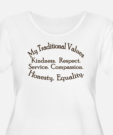 My traditional Values Women's Plus Size Tee