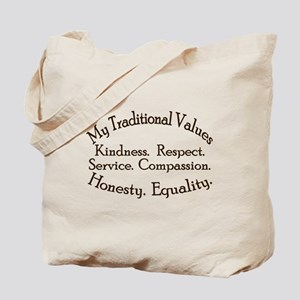 My Traditional Values Tote Bag