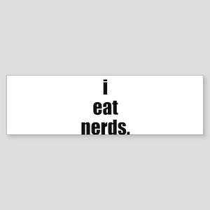 i eat nerds Sticker (Bumper)