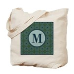 Cathedral Blue Monogram Tote Bag