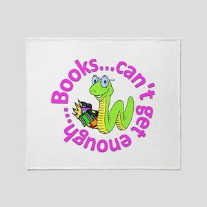 Reading Month Bookworm Throw Blanket