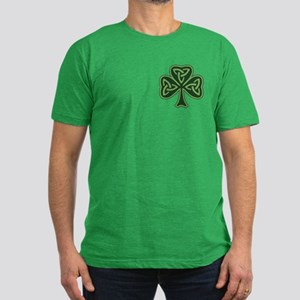 Trinity Shamrock Men's Fitted T-Shirt (dark)