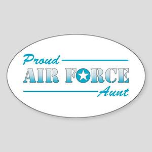 Proud Aunt Oval Sticker
