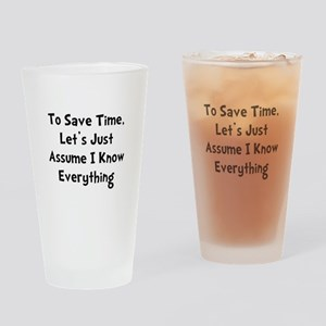 Know Everything Drinking Glass