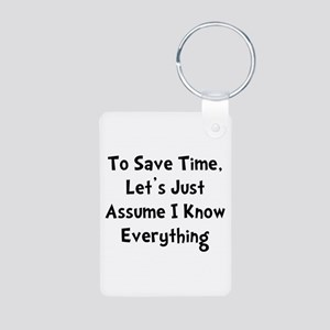Know Everything Aluminum Photo Keychain