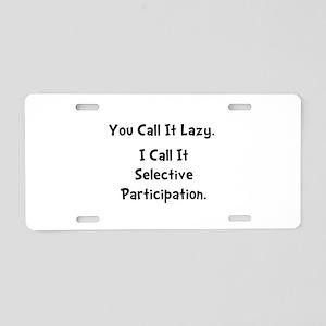 Selective Participation Aluminum License Plate