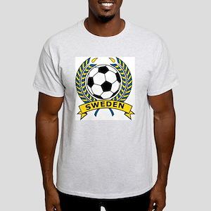 Soccer Sweden Ash Grey T-Shirt