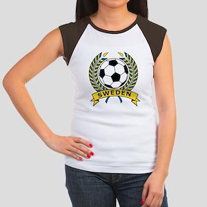 Soccer Sweden Women's Cap Sleeve T-Shirt