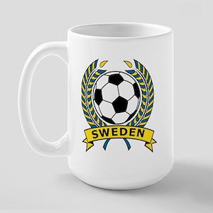 Soccer Sweden Large Mug