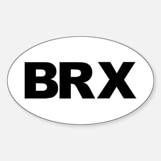 BRX (BRONX, NYC NY) Sticker (Oval)