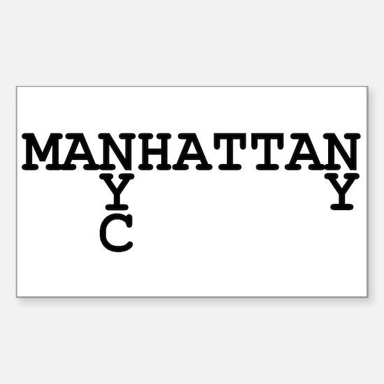 MANHATTAN NYC NY Sticker (Rectangle)