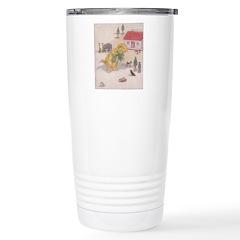1927 Christmas Kitten 1 Stainless Steel Travel Mug