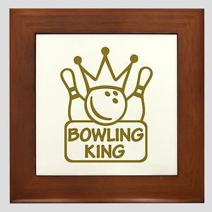 Bowling King Framed Tile