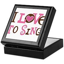 I Love To Sing Keepsake Box