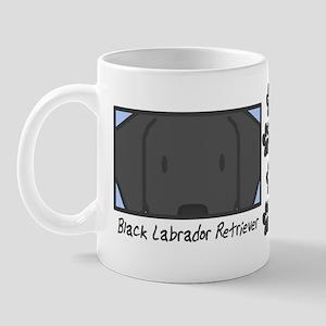 Anime Black Lab Mug