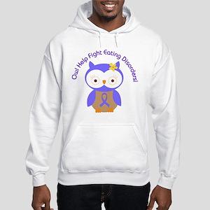 Eating Disorders Owl Hooded Sweatshirt