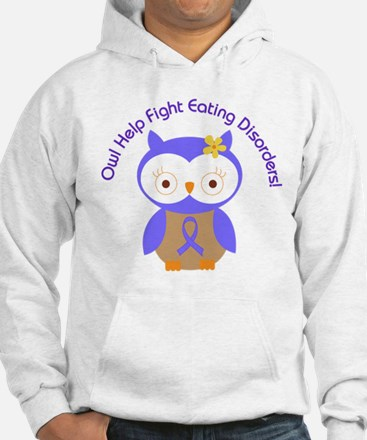 Eating Disorders Owl Hoodie