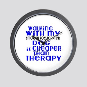 Walking With My Smooth Fox Terrier Dog Wall Clock