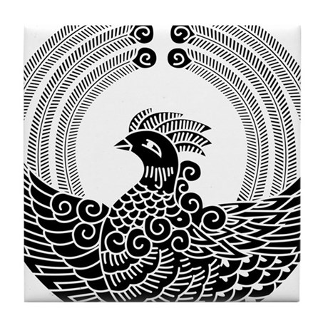 Dancing phoenix Tile Coaster