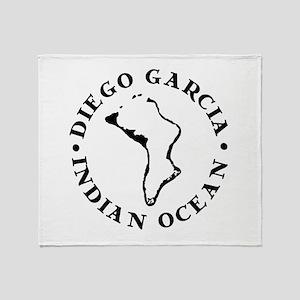 Diego Garcia Throw Blanket