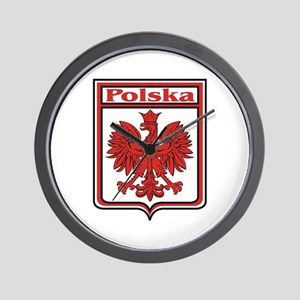 Polska Crest Shield Wall Clock