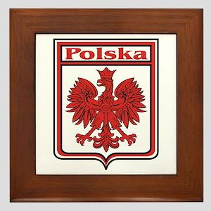 Polska Crest Shield Framed Tile