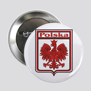 "Polska Crest Shield 2.25"" Button (10 pack)"