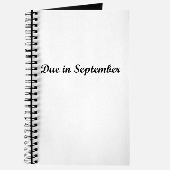 Due In September Journal