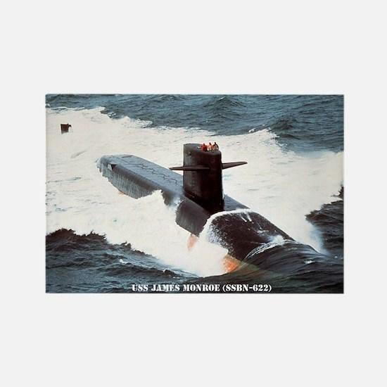 USS JAMES MONROE Rectangle Magnet