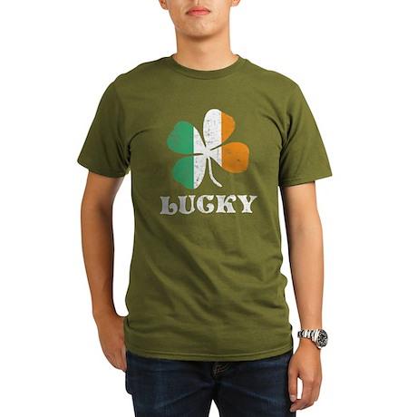 Irish Lucky Organic Men's T-Shirt (dark)