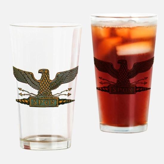Roman Eagle in Copper Drinking Glass