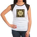 Olive Yeux Monogram Women's Cap Sleeve T-Shirt