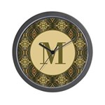 Olive Yeux Monogram Wall Clock