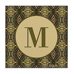 Olive Yeux Monogram Tile Coaster
