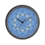 Bleuet Dentelle Calliope Wall Clock