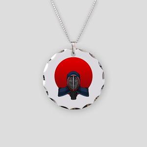 Kendo Hinomaru Necklace Circle Charm