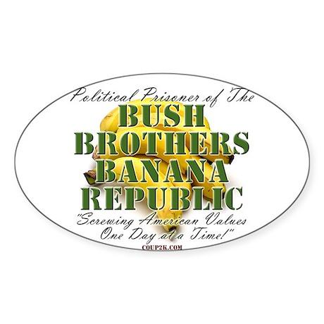 POLITICAL PRISONER Oval Sticker