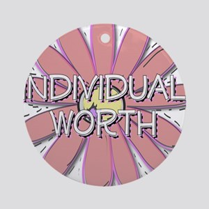 Individual Worth - Young Wome Ornament (Round)