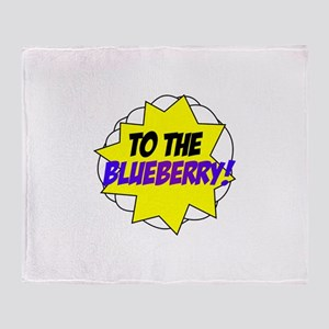 Psych, To The Blueberry! Throw Blanket