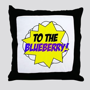 Psych, To The Blueberry! Throw Pillow